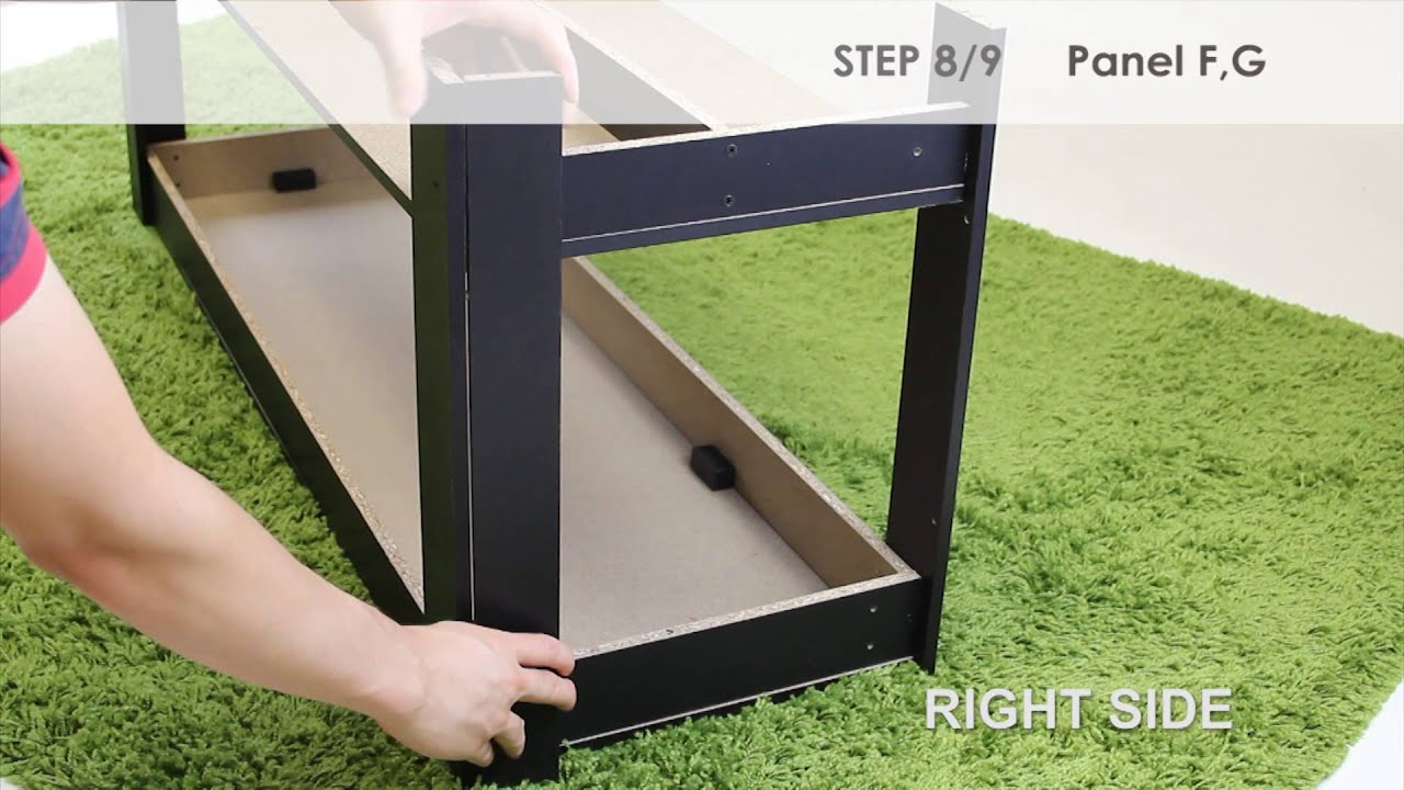 How to Assemble Furinno Parsons Entertainment Center TV