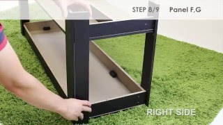 How to Assemble Furinno 12125 Parsons Entertainment Center TV Stand/Coffee Table