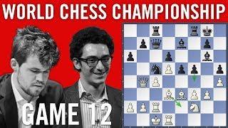 World Chess Championship 2018 Game 12: Magnus Carlsen vs Fabiano Caruana