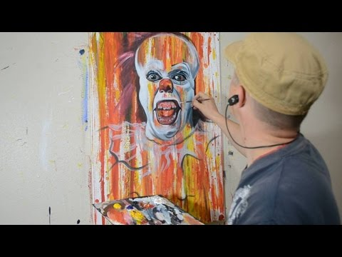 Painting Stephen Kings IT in a Cool Contemporary Art Style