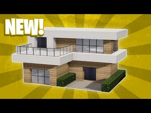 Minecraft : How To Build a Small Modern House Tutorial (#12)