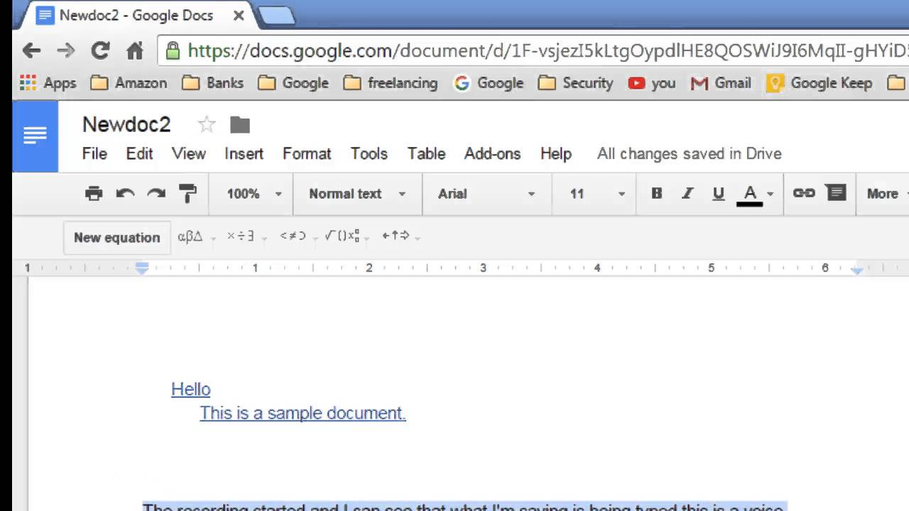 How to align the text in Google Docs