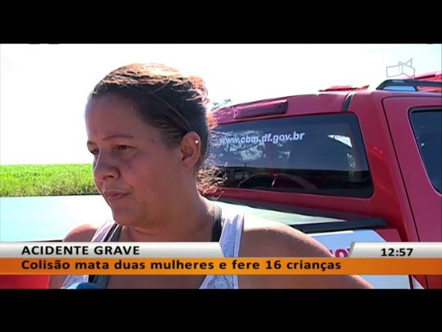 JL - Colisão mata duas mulheres e fere 16 crianças