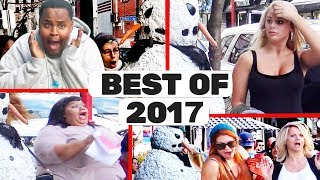 Best Of 2017 - Scary Snowman Hidden Camera Practical Joke - Top 20