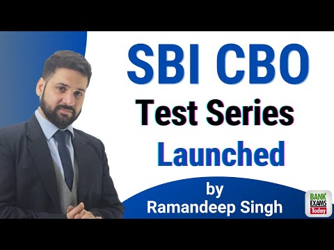 SBI CBO 2020: Test Series Released