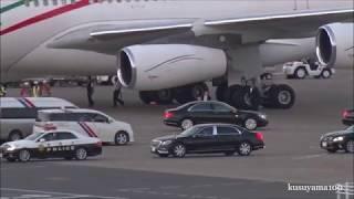✈✈機首にイラン国旗と日の丸!!イランのロウハニ大統領19年ぶりの来日!!イラン・イスラム共和国政府 Airbus A340-313X EP-IGA 羽田空港
