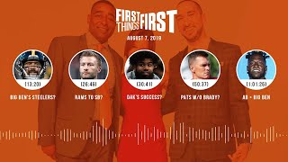 First Things First Audio Podcast (8.7.19) Cris Carter, Nick Wright, Jenna Wolfe | FIRST THINGS FIRST