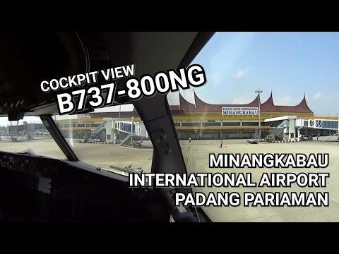 (ATC) Cockpit Landing Minangkabau International Airport - Padang Pariaman