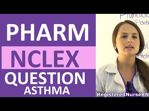 Pharmacology NCLEX Review Question: Bronchodilators and Corticosteroids Asthma Nursing