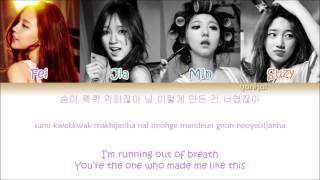 Repeat youtube video Miss A - Only You (Color Coded Han|Rom|Eng Lyrics)