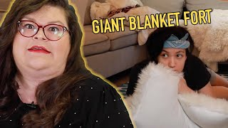 Kristin and Jen Made A Giant, Silly Blanket Fort | Kitchen & Jorn