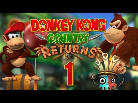Donkey Kong Country Returns - Let's Play Donkey Kong Country Returns 200% [German/BLIND] Part 1 DK is back!