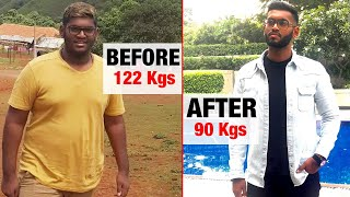 Weight Loss Journey : From 122 Kilos To 90 Kilos | Fat To Fit | Fit Tak