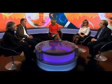 "Will Self, Michelle Dewberry, Peter Hitchens & Bernard Henri Levy BBC Debate ""Is Democracy Broken?"""