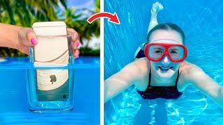 12 ابتكار بسيط ومضحك لحمام السباحة وألعاب / مقالب حمام السباحة
