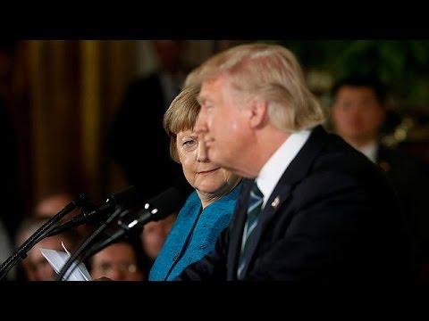 Schwieriges Treffen in Washington: Angela Merkel auf Kurzbesuch bei Donald Trump