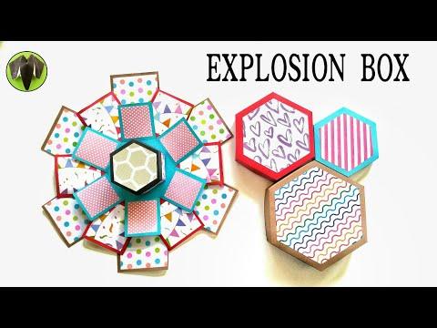 Hexagonal Explosion Card Box - DIY Tutorial - 864