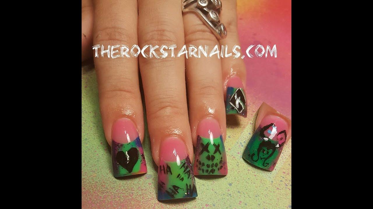 Suicide Squad Joker Nails