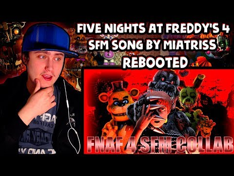 [SFM Collab] Fnaf 4 Song by MiatriSs Rebooted | Reaction