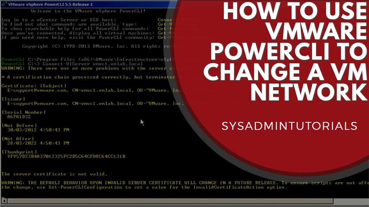 How to change a VMware Virtual Machine Network using PowerCLI