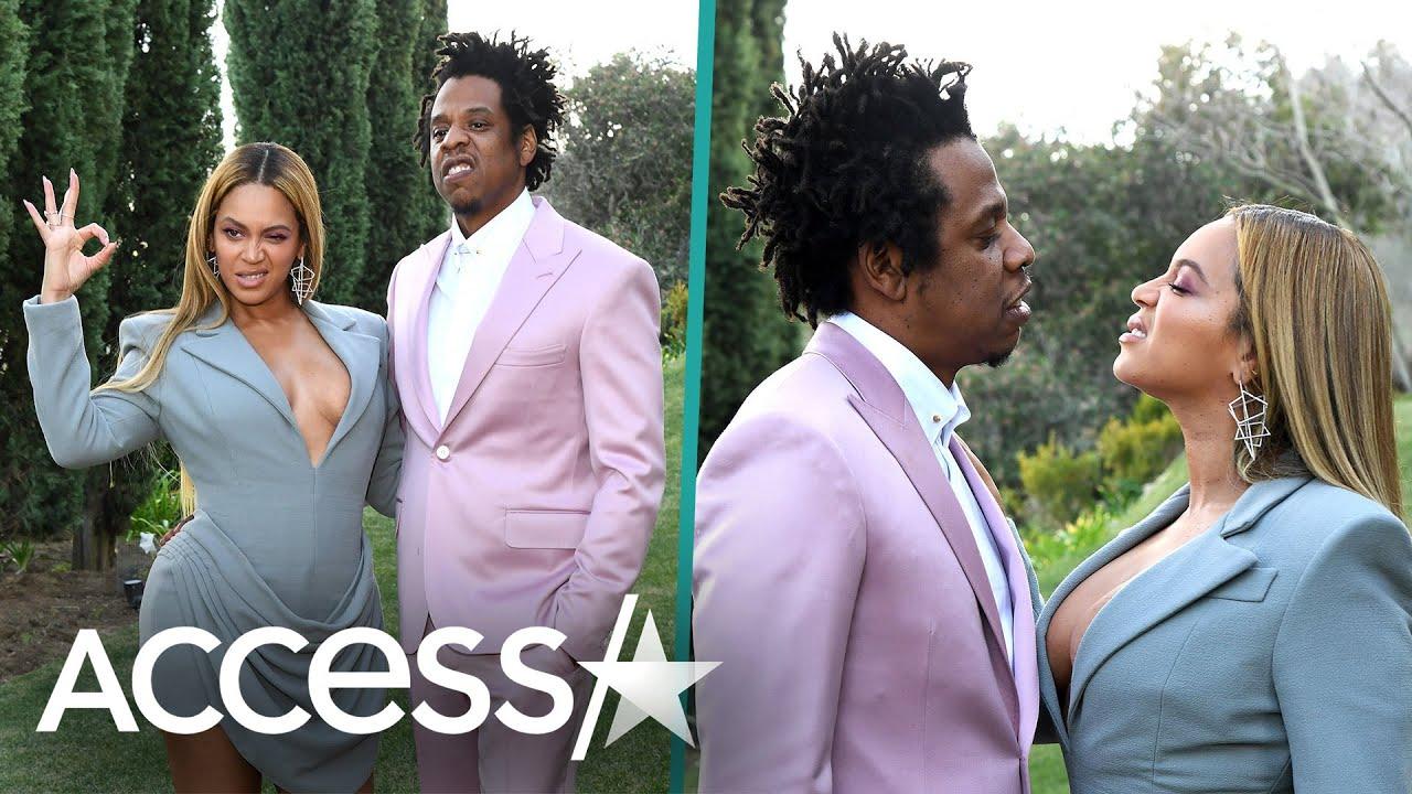 Beyoncé And Jay-Z Strike Playful Poses At Star-Studded Roc Nation Brunch