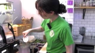 Juice Garden make a delicious acai bowl with homemade granola