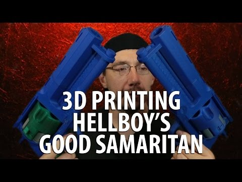 3D Printing Hellboy's Good Samaritan Gun + GIVING AWAY FREE GUN [3d printed gun]