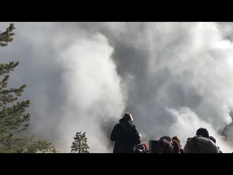 Yellowstone Steamboat Geyser Major Eruption September 17 2018 (1h 15m)