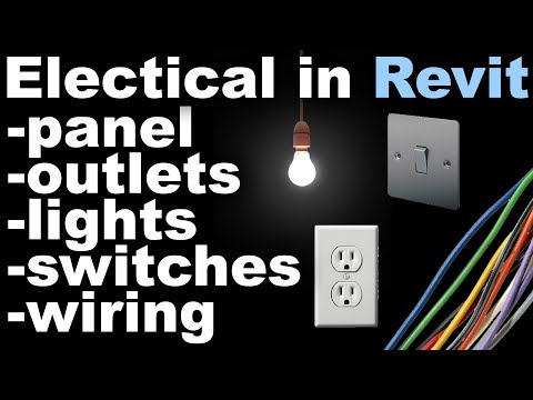 Revit Electrical Beginner Tutorial (outlets, lights, banel board, switches, wiring)