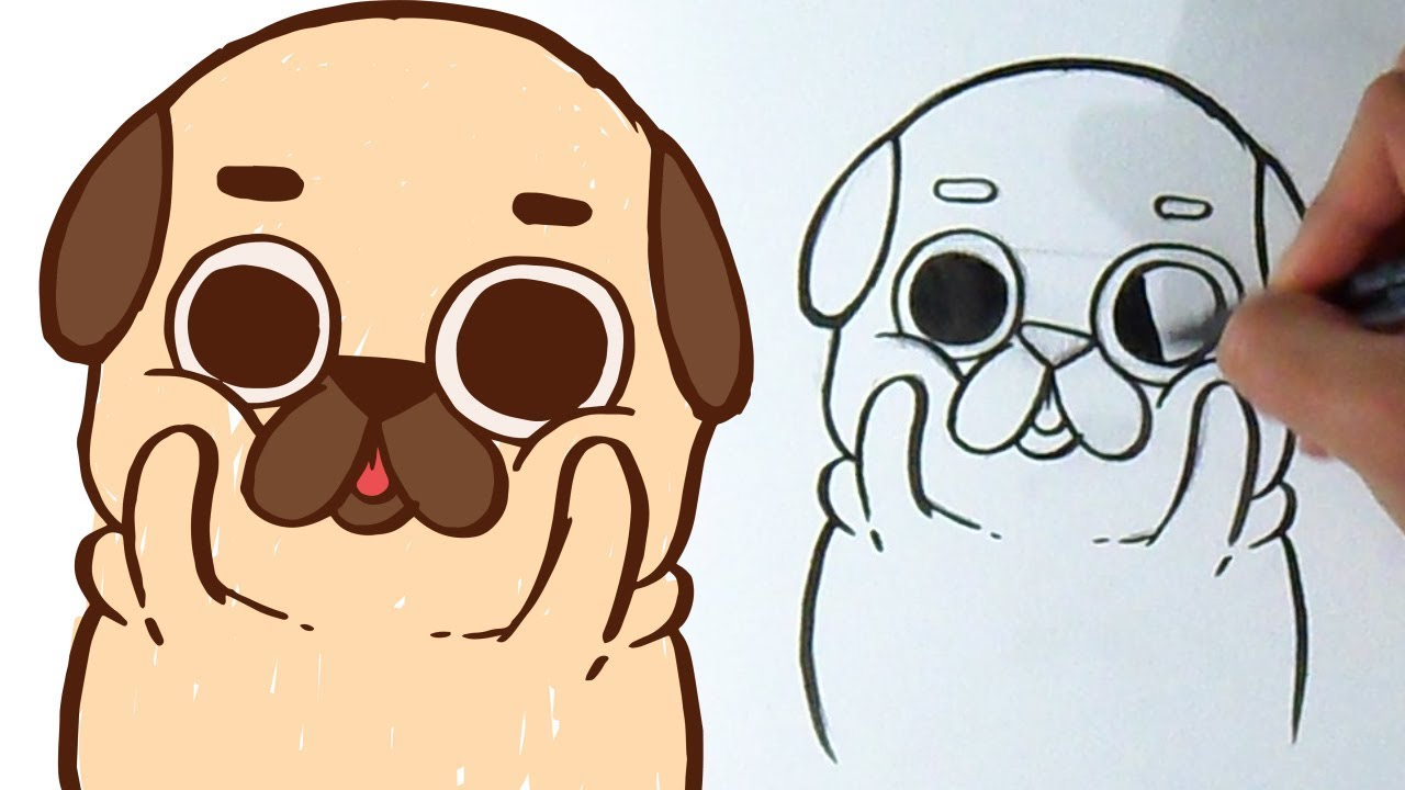 Cómo Dibujar Perrito Pug Kawaii