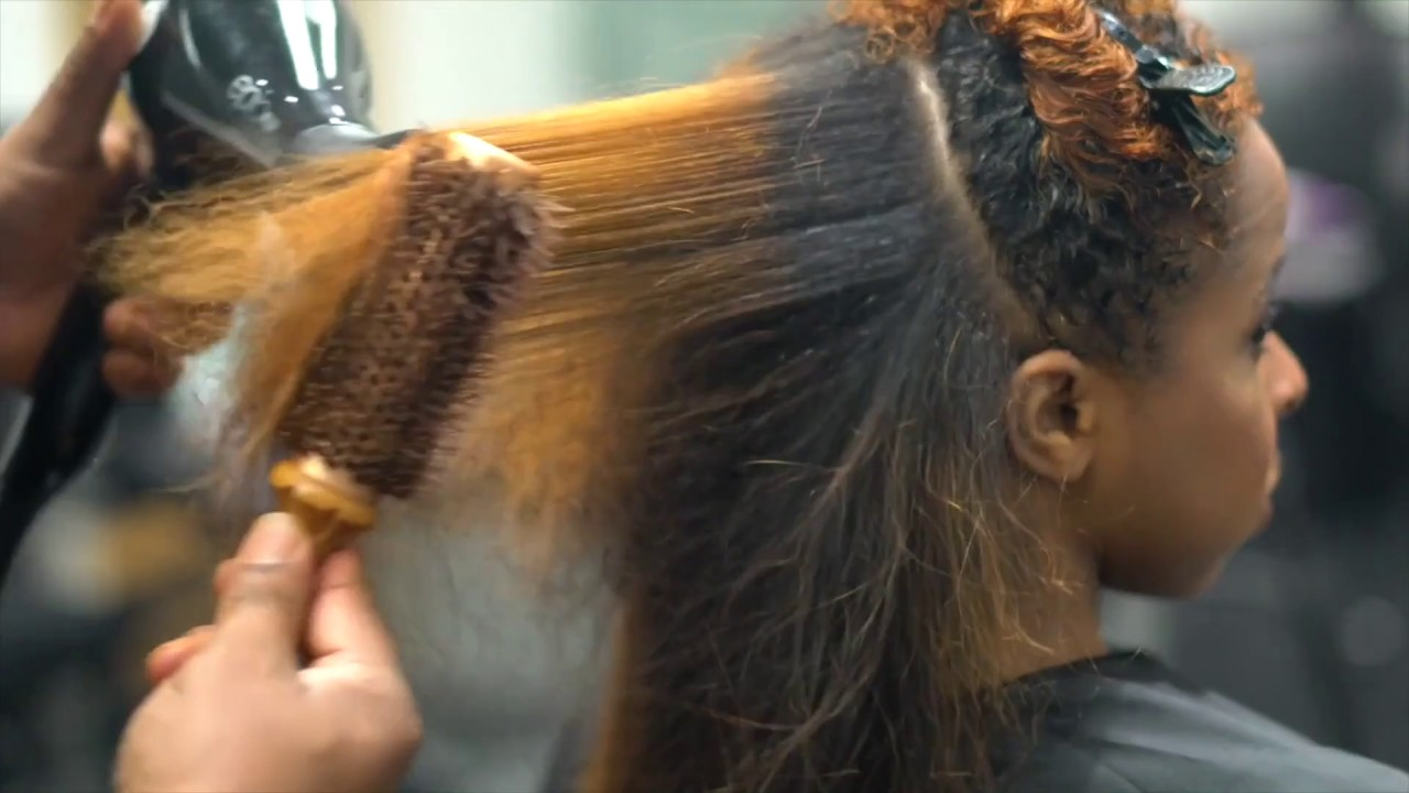 picture How to Silk Press Natural Hair