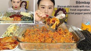 입맛없을땐 이거지!! 비빔밥 김싸먹기 먹방 Mukbang eating show 180721