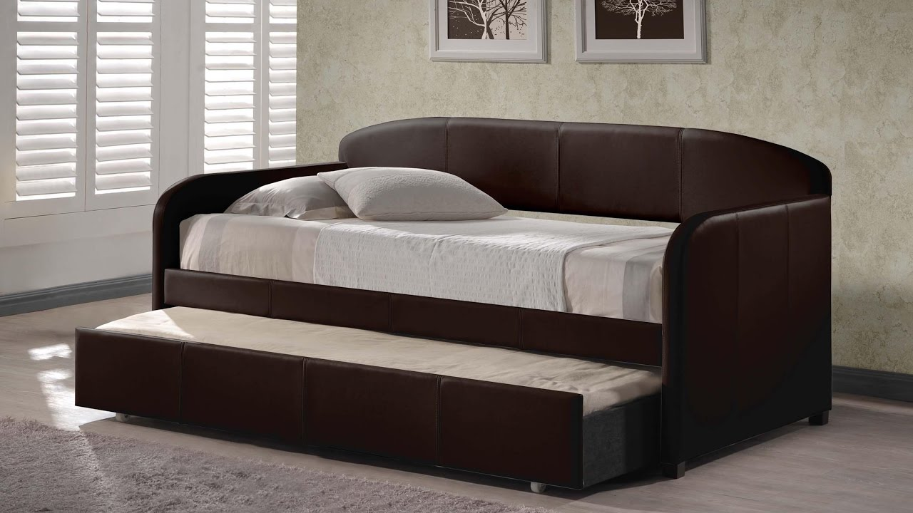Daybed With Pop Up Trundle Daybed Pop Up Trundle Combo - Youtube