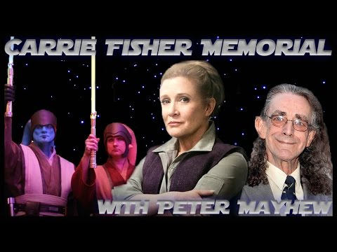 Carrie Fisher Memorial with Peter Mayhew