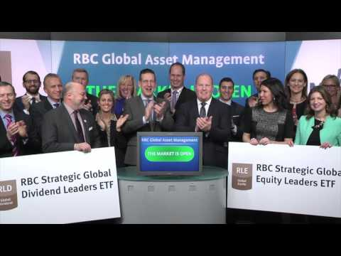 RBC Global Asset Management opens Toronto Stock Exchange, January 28, 2016