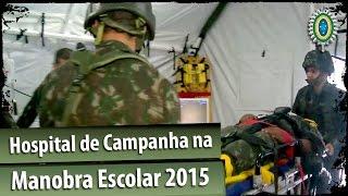 Hospital de Campanha na Manobra Escolar 2015
