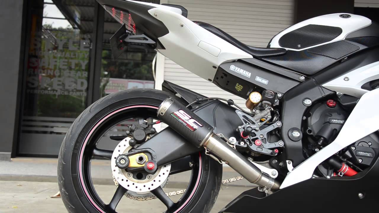 Yamaha Yzf R6 Sc Project Exhaust Cr T High Position