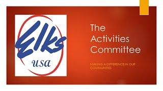 The Activities Committee