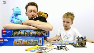 Лего Креатор 31036. Магазин игрушек. Обзор конструктора Lego Toy and Grocery Shop. Картонка(В Лего Сити помимо полицейских, пожарных и исследователей вулканов обитают также обычные легожители. Они..., 2016-07-02T04:00:01.000Z)