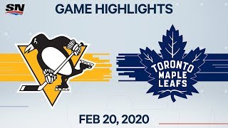NHL Highlights | Penguins vs Maple Leafs - Feb. 20, 2020