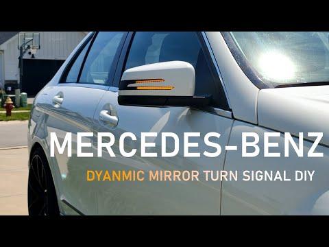 Mercedes-Benz LED DYNAMIC TURN SIGNAL DIY Install (Sequential LED W204 W212 W176)