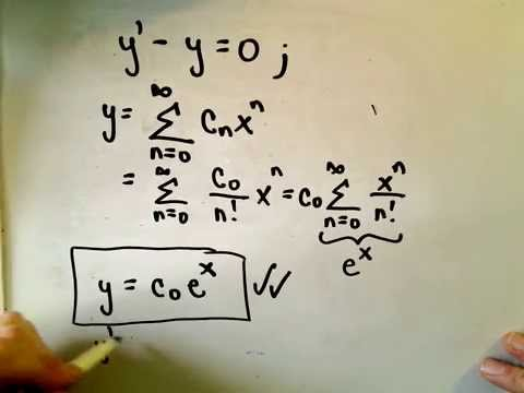Power Series Solutions of Differential Equations