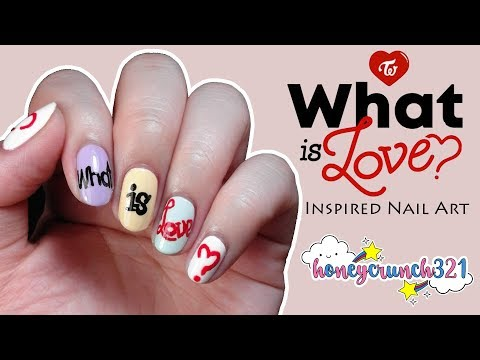 Twice (트와이스) What is Love? Inspired Nail Art | honeycrunch321