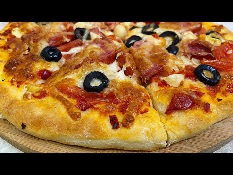 Uy Sharoitida Mazzali Pitsa Tayyorlaymiz / Пицца в домашних условиях.Тесто для пиццы
