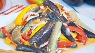 БАКЛАЖАНЫ ПО-КОРЕЙСКИ, невероятно вкусная постная закуска из баклажанов! – Коллекция Рецептов