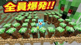 【マインクラフト】ヘンなクリーパー大量爆破で生き残れるか検証してみた!!Elemental CreepersMOD thumbnail