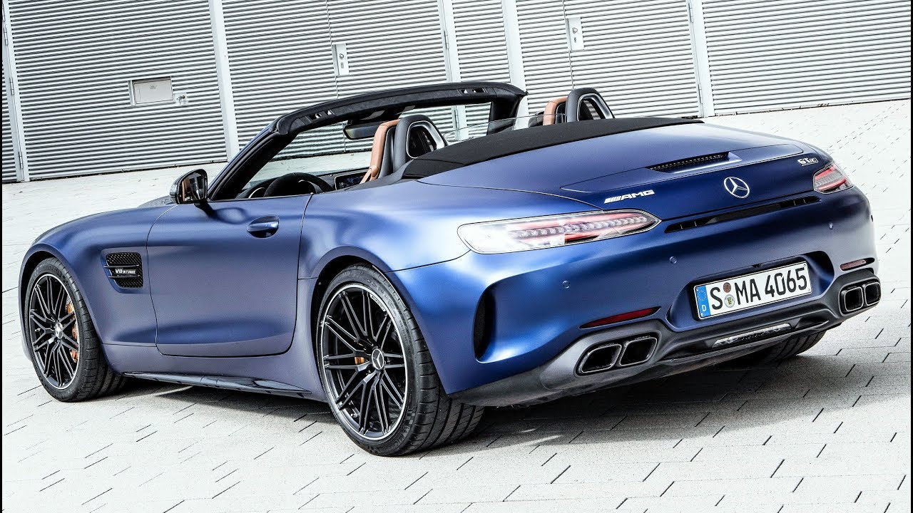 2019 Blue Mercedes AMG GT C Roadster - Pure Driving Performance