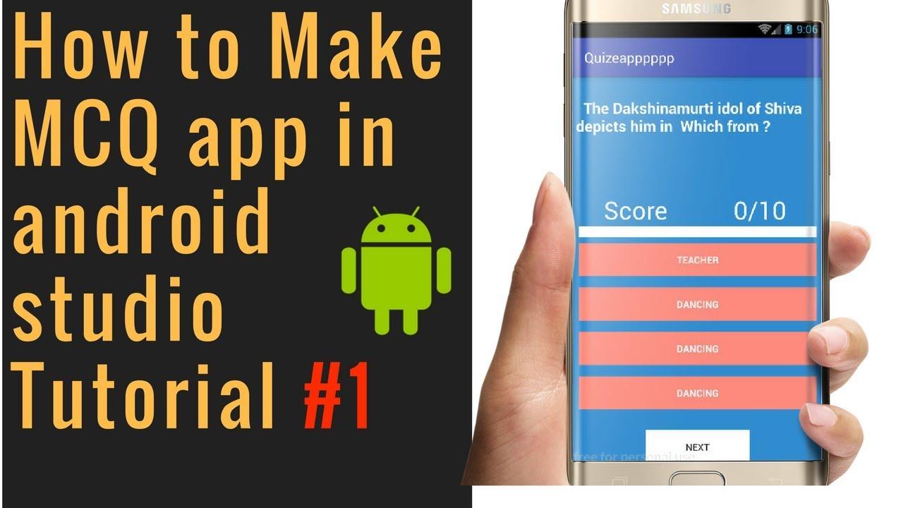 Create mcq Quiz app in android studio || SQlite by Eduandroid