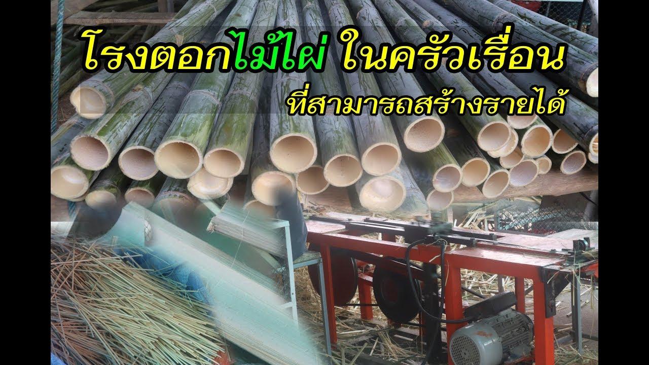 โรงทำตะเกียบ ในครัวเรือน #ไผ่ซางหม่น #ไม้ไผ่ #ไม้ตะเกียบ #ไม้เสียบลูกชิ้น