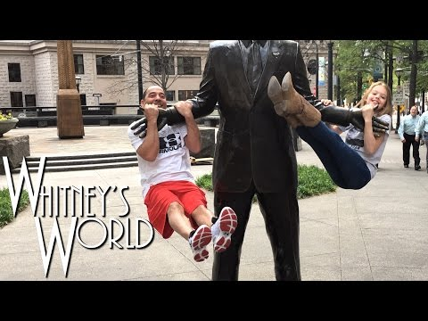 Whitney and Coach Ron Hang Out in Downtown Atlanta | Whitney Bjerken